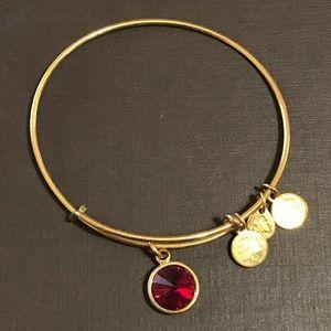 Alex and Ani garnet charm bracelet